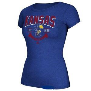 Women's Adidas Kansas Jayhawks Tee NMT XL